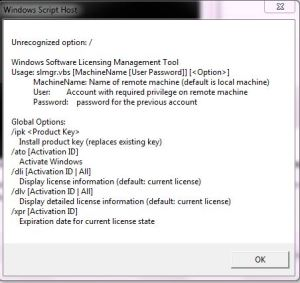 Delaying windows activation by slmgr vbs command | HiDe OuT